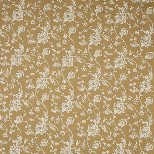 Bayswater curtain fabric in Ochre by Prestigious Textiles