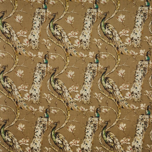 Richmond curtain fabric in Ochre by Prestigious Textiles