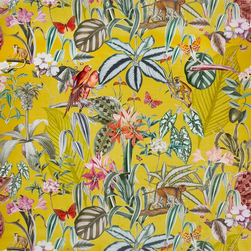 Barbados curtain fabric in Citron by Prestigious Textiles