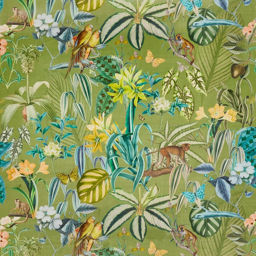 Barbados curtain fabric in Palm by Prestigious Textiles