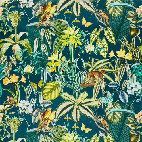Barbados curtain fabric in Lagoon by Prestigious Textiles