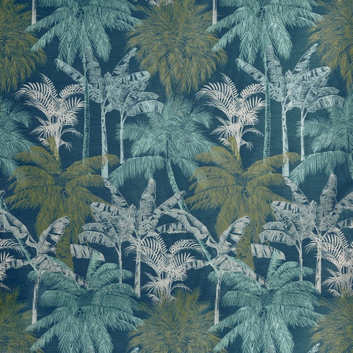 St Lucia curtain fabric in Lagoon by Prestigious Textiles