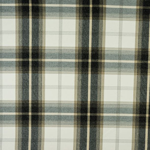 Porter & Stone Balmoral Curtain Fabric | Charcoal - Designer Curtain & Blinds