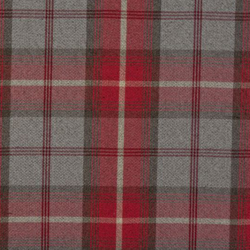 Balmoral curtain fabric in Cherry by Porter & Stone