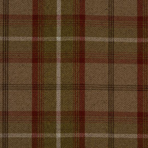Porter & Stone Balmoral Curtain Fabric | Rust - Designer Curtain & Blinds