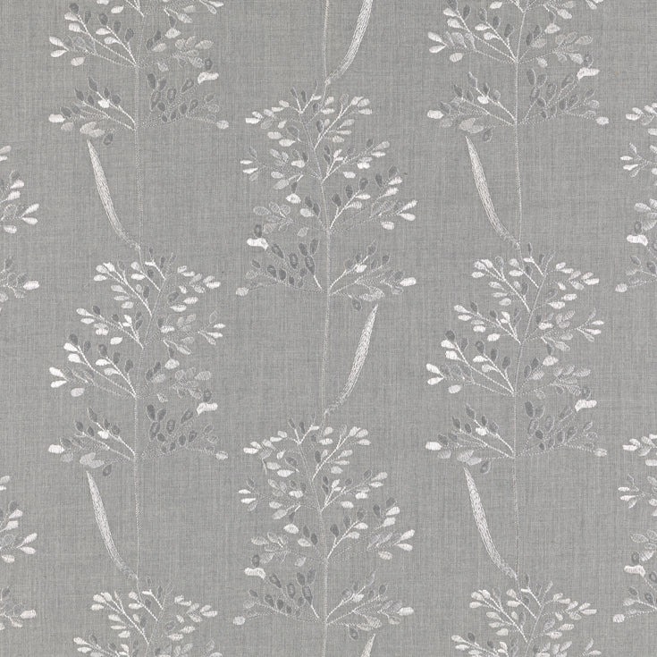 Beaulieu embroidered curtain fabric in Gainsboro by Fibre Naturelle