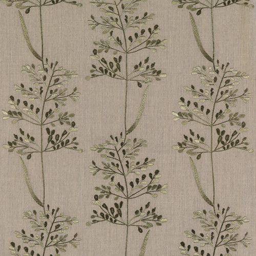 Fibre Naturelle Beaulieu Curtain Fabric | Overtly Olive - Designer Curtain & Blinds