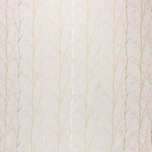 Burley Tree curtain fabric in Straw by Fibre Naturelle