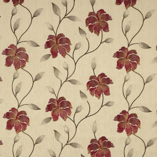 iLiv Everglade Curtain Fabric | Cherry - Designer Curtain & Blinds