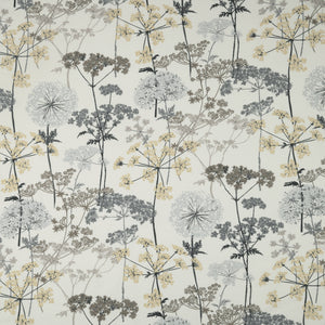 Hedgerow curtain fabric in Charcoal by iLiv