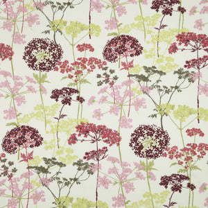 Hedgerow curtain fabric in Magenta by iLiv