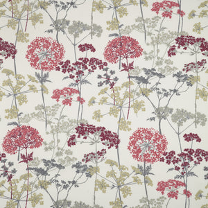 Hedgerow curtain fabric in Ruby by iLiv