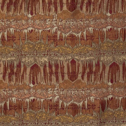 Fryetts Inca Curtain Fabric | Burnt Orange