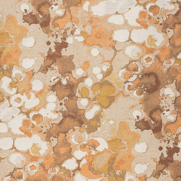 Fryetts Laverne Curtain Fabric | Burnt Orange