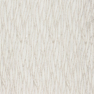 Linear curtain fabric in Natural by Fryetts