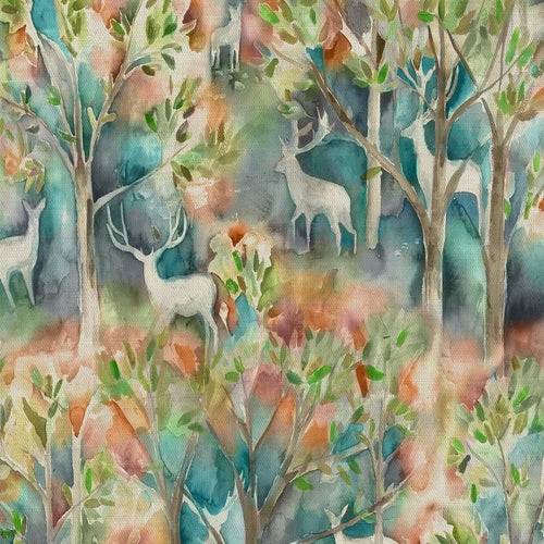 Voyage Seneca Forest Curtain Fabric | Autumn