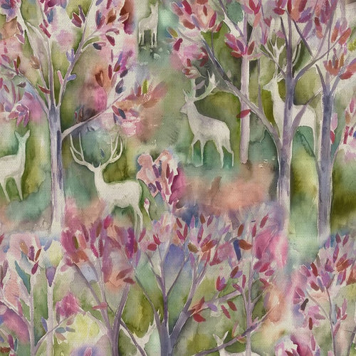 Voyage Seneca Forest Curtain Fabric | Spring