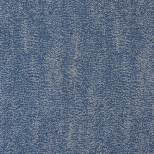 Shelley curtain fabric in Blue by Fryetts