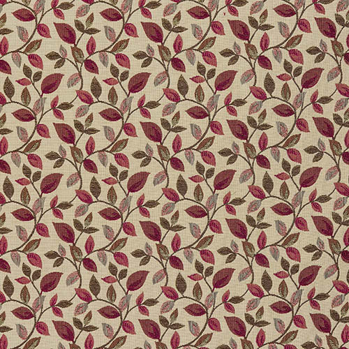 Vercelli curtain fabric in Wine by Porter & Stone