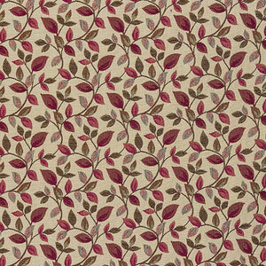 Porter & Stone Vercelli Curtain Fabric | Wine - Designer Curtain & Blinds