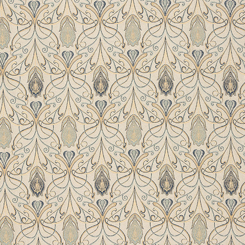 Porter & Stone Verona Curtain Fabric | Azzuro - Designer Curtain & Blinds
