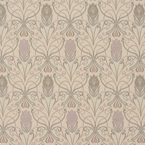 Verona curtain fabric in Blush by Porter & Stone
