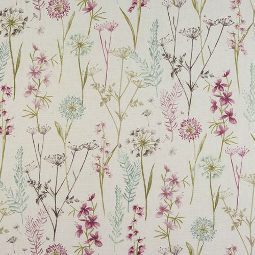 Wild Flower curtain fabric by Porter & Stone in Heather