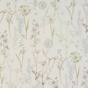 Wild Flower curtain fabric by Porter & Stone in Wedgewood