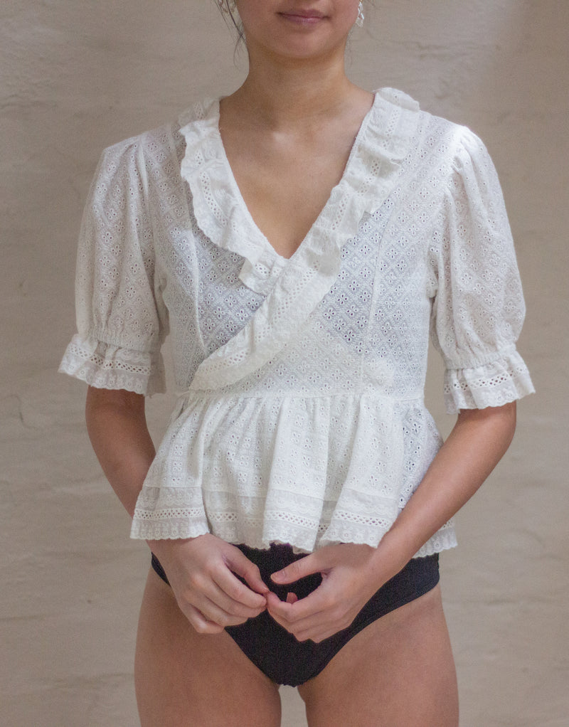 JOURDAIN Wrap Blouse