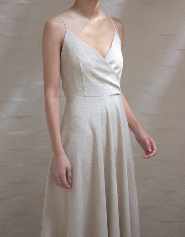 SEGAL Linen Midi Dress