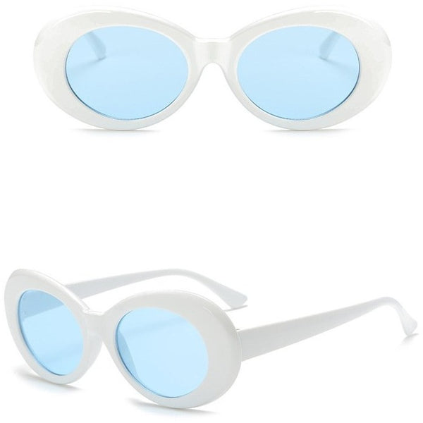 White Clout Glasses Front and Side