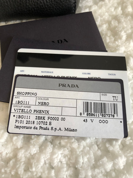 a9b94d0de21f PRADA Vitello Phenix 1BG111 - Brand New – Fabelhaft International