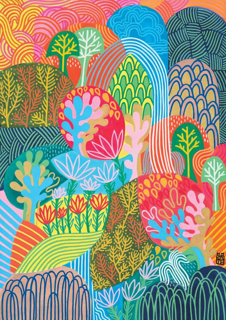 Colourful artwork by Kate Ashforth. Available in limited edition art prints.