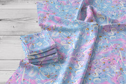 ABC Pink and Blue Swirl