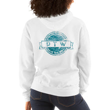 "Load image into Gallery viewer, ""Pathfinder"" Hooded Sweatshirt (Blue Wave Logo)"