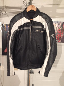 Hein Gericke Black Leather Motorcycle Riding Jacket and Pants