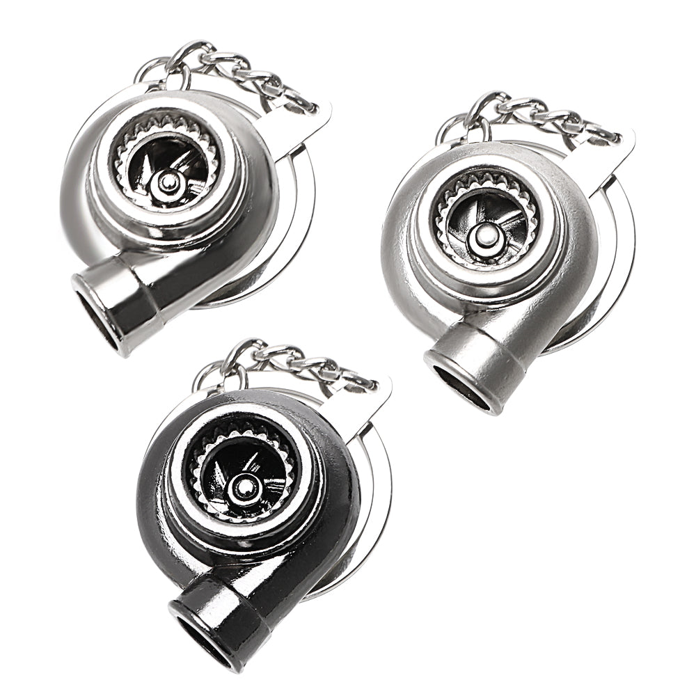 Turbo Key Chains Boost Keyring Car Ornament Boosted Turbocharger Key Ring for Motorcycle Interior Accessories Metal Pendant