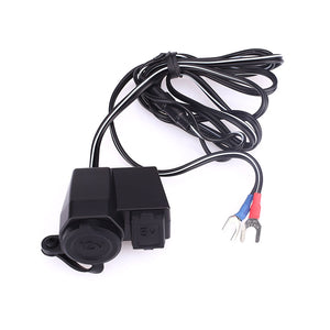 USB 2 in 1 for Motorcycle Charger