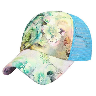 Outdoor sports running cap floral cap summer breathable quick-drying duckbill baseball hat