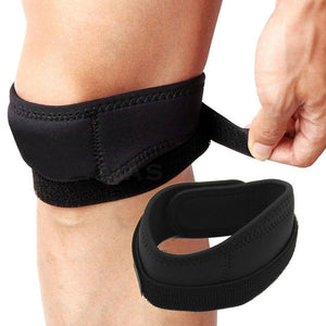 HOT ! ! Black Sports Knee Patella Knee cap Elastic Compression Brace Support Wrap Strap
