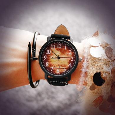 Fashion Ladies Watch Leather Watch Couple Watch