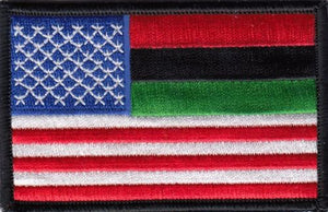 RASTA African American Flag Embroidered Patches 3.5