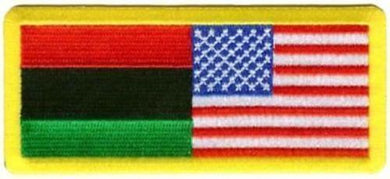 African American/American Flag Patch