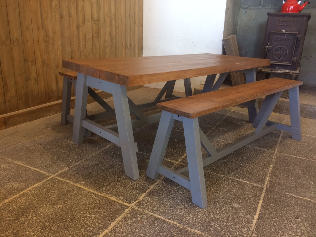 Table A-Frame Artisan Coffee Table