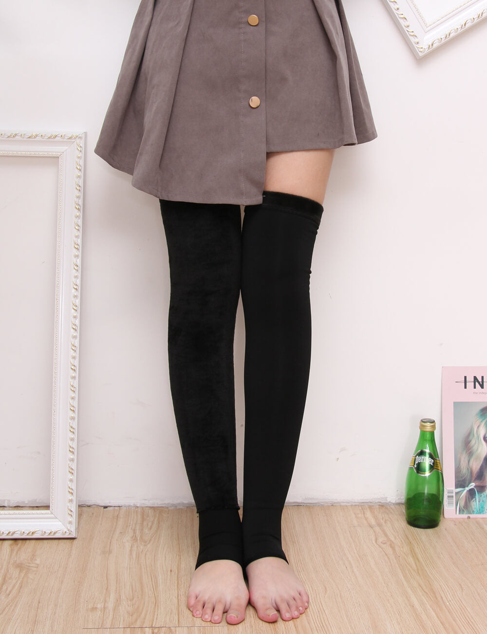 7a5ed345fa6 Thicken Over Knee Long Thigh High Socks - JumpBeauty