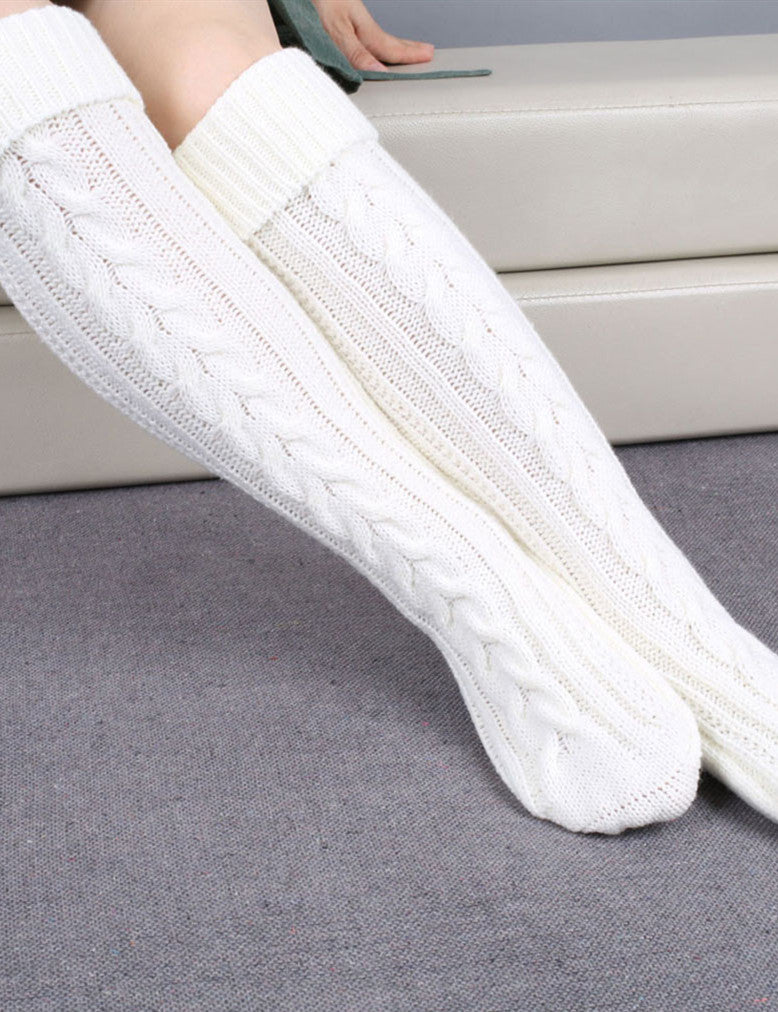 6646e7fe1a3 Solid Thick Winter Warm Knee High Socks - JumpBeauty