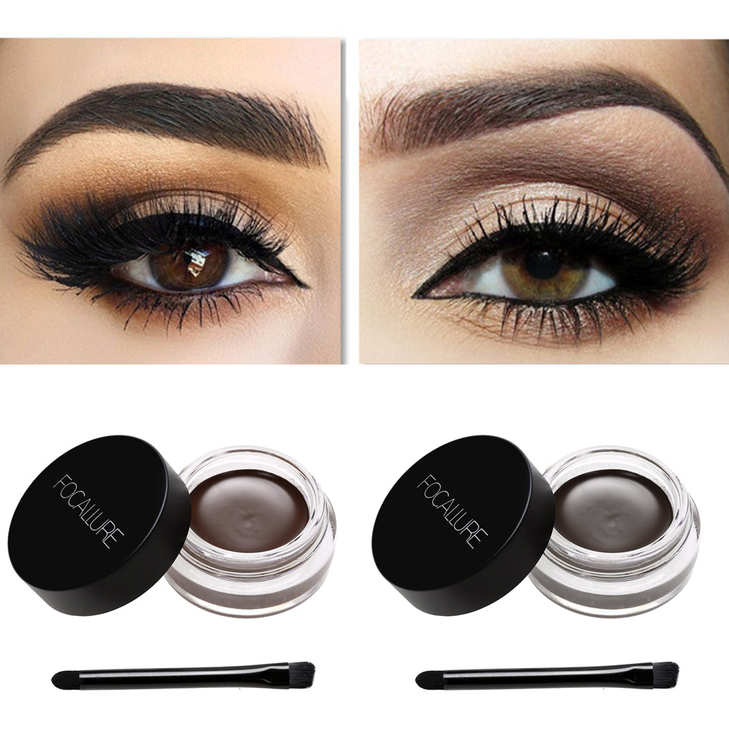 Waterproof Definition Cream Eyebrow Gel With Brush Jumpbeauty