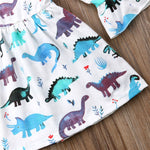 Girls Dinosaur Print Summer Dress 12m-5t