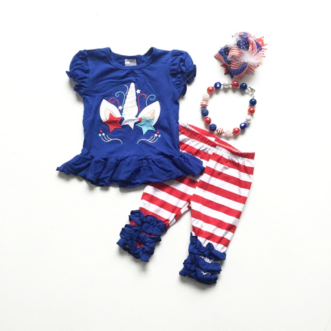 4 Piece 4th of July Unicorn Set- 12m-10