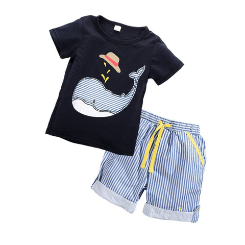 2 PCS Toddler Clothes Shorts and T-shirt Outfit Set 12m-6